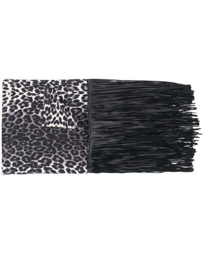 Платок леопардовый с кисточками Caban Romantic