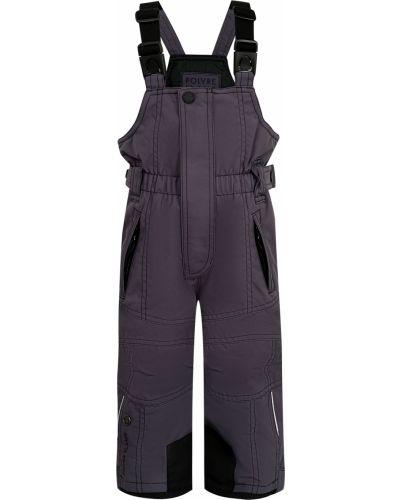 Серые утепленные брюки Poivre Blanc