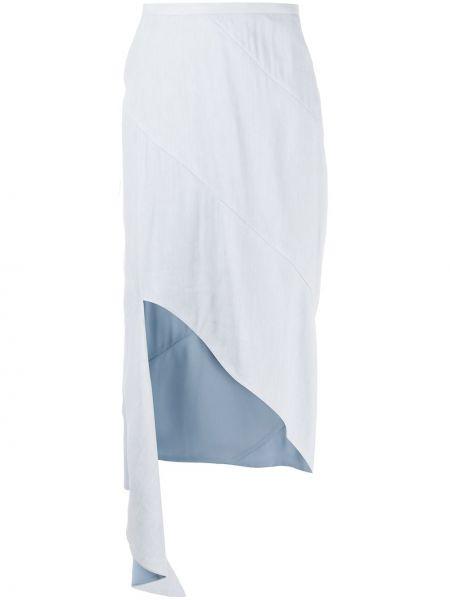 Юбка с завышенной талией асимметричная Off-white