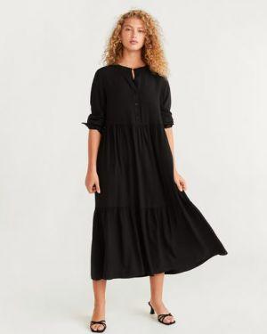 Платье миди на пуговицах платье-рубашка Mango