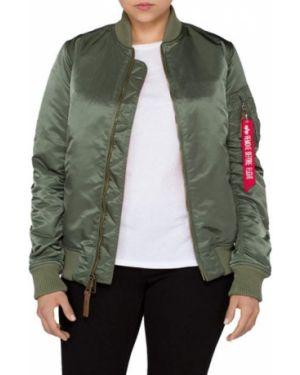 Нейлоновая куртка MA-1 хаки Alpha Industries