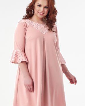 Вечернее платье миди - розовое Wisell