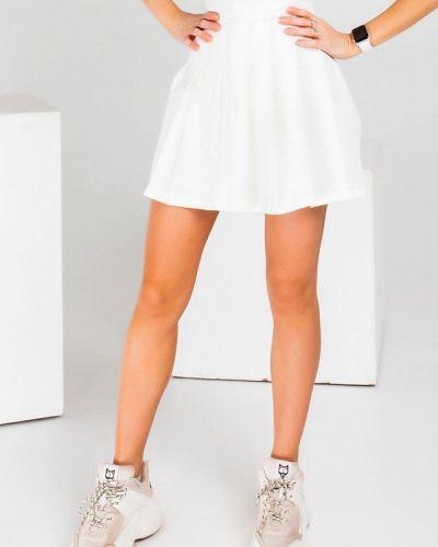 Белая юбка свободного кроя Modna Anka