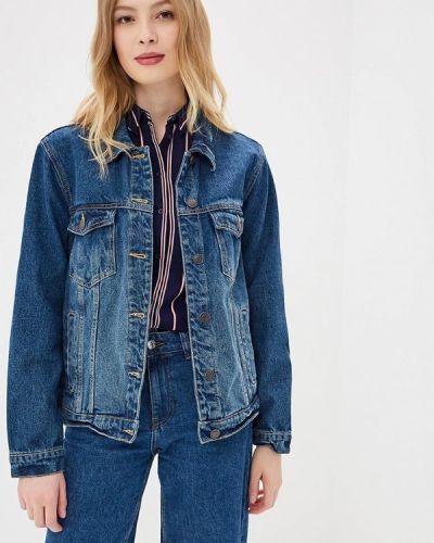 Джинсовая куртка весенняя синий Jennyfer