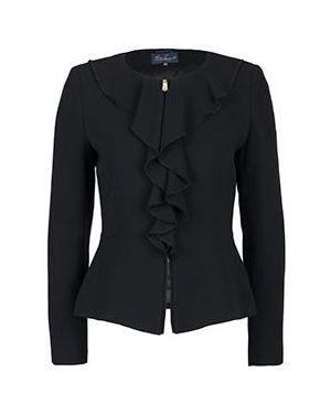 Пиджак черный шерстяной Luisa Spagnoli