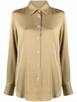 Koszula z jedwabiu - zielona Filippa K