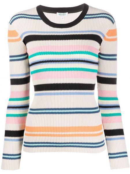 Длинный свитер в рубчик узкого кроя Kenzo