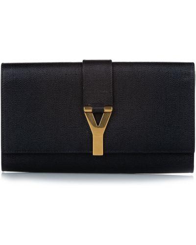 Kopertówka skórzana - czarna Saint Laurent Vintage
