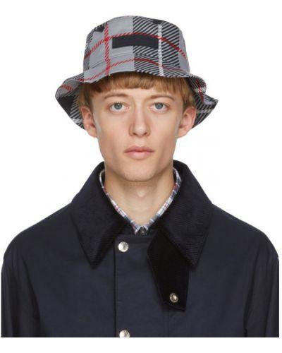 Bawełna bawełna czarny prochowiec z łatami Mackintosh