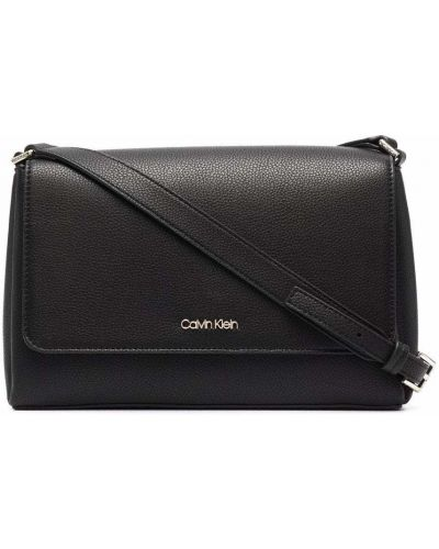 Деловая черная сумка через плечо Calvin Klein