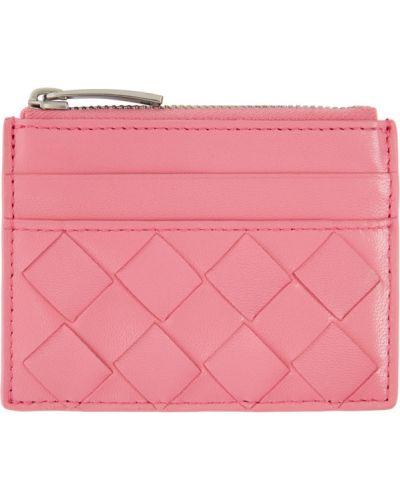 Розовый кожаный топ с подкладкой Bottega Veneta