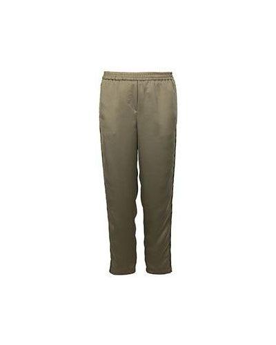 Укороченные брюки зеленый с лампасами Nude