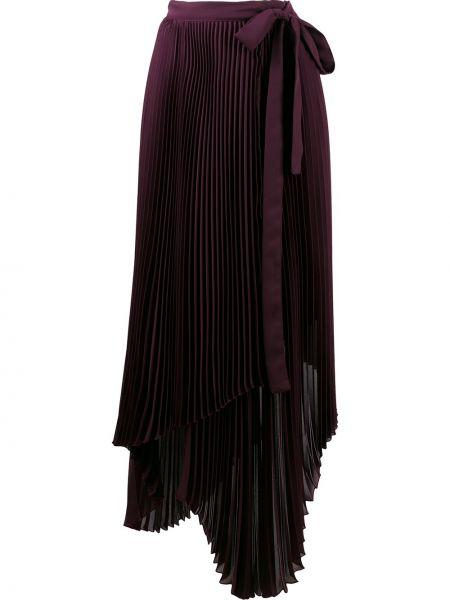 Fioletowa spódnica z wysokim stanem asymetryczna Brognano