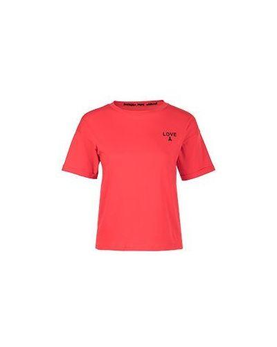 Красная футболка хлопковая Patrizia Pepe