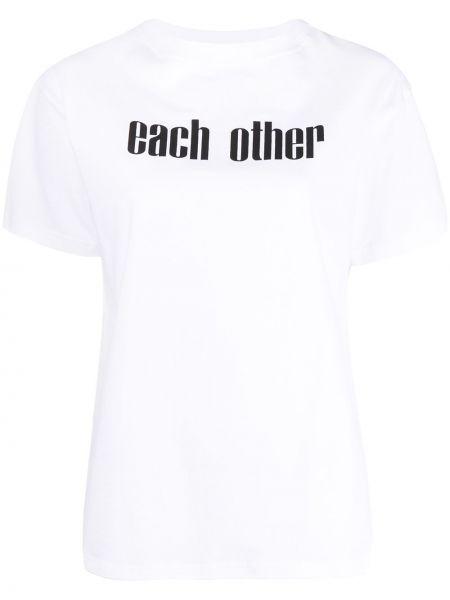 Biały t-shirt bawełniany krótki rękaw Each X Other