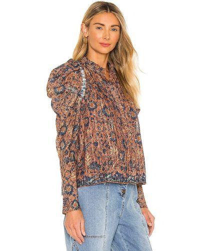 Pomarańczowa bluzka z wiskozy Ulla Johnson