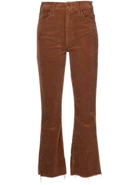 Коричневые укороченные брюки Mother