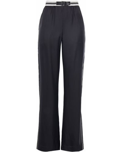Czarne spodnie w paski klamry Rag & Bone