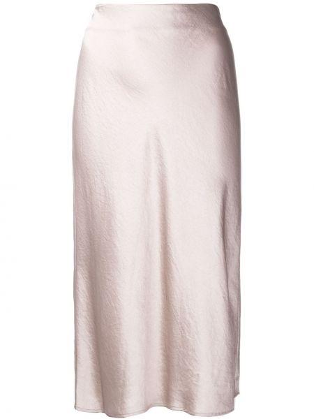 Юбка миди с завышенной талией розовая T By Alexander Wang
