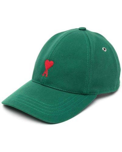 Хлопковая кепка - зеленая Ami Paris