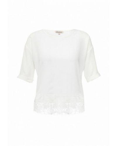Блузка с коротким рукавом белая весенний Bruebeck