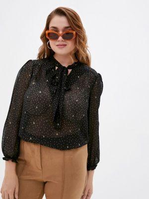 Черная зимняя блузка Hey Look