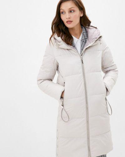 Бежевая теплая зимняя куртка Lusio