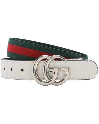 Skórzany pasek z paskiem z klamrą Gucci