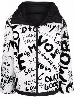 Белая куртка с принтом Dolce & Gabbana