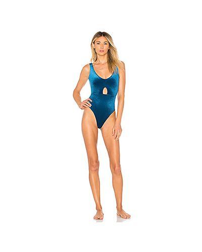 Синий слитный купальник Tularosa