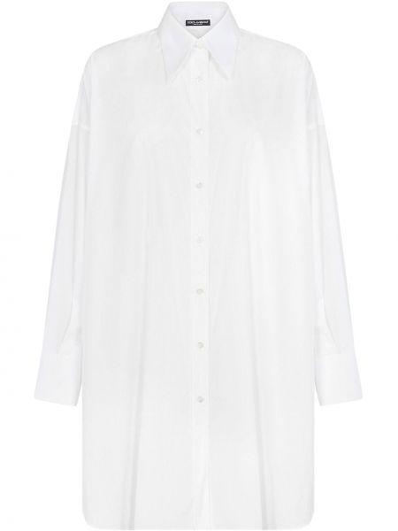 Biały bawełna bawełna tunika Dolce And Gabbana