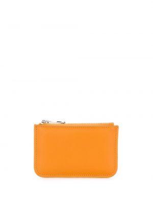 Желтый кожаный кошелек для монет на молнии Ami