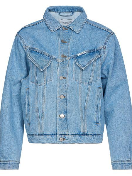 Куртка на пуговицах - голубая Forte Couture