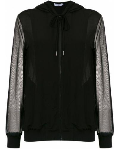 Черная длинная куртка Mara Mac