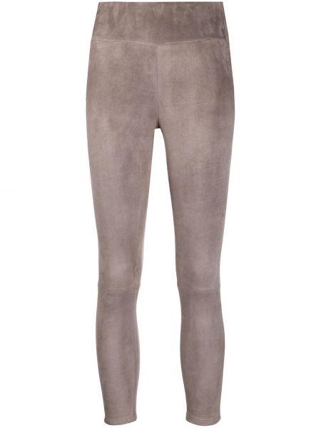 Облегающие серые укороченные брюки эластичные Arma