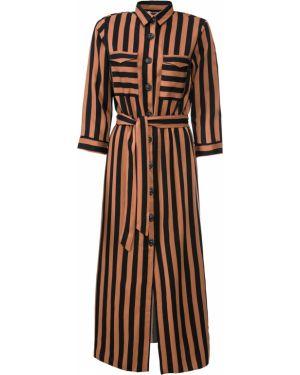 Платье с поясом платье-рубашка с длинными рукавами Bonprix