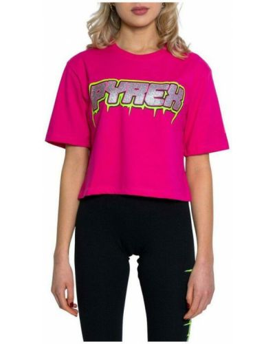 Różowa t-shirt Pyrex