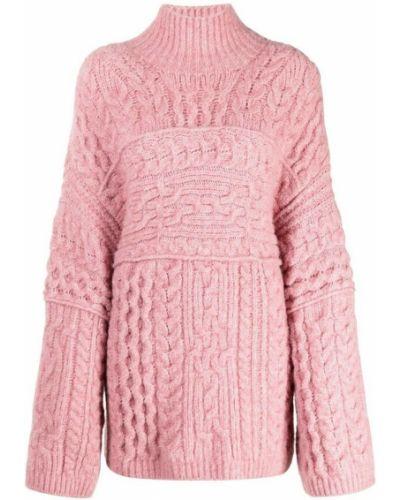 Różowy sweter Nanushka