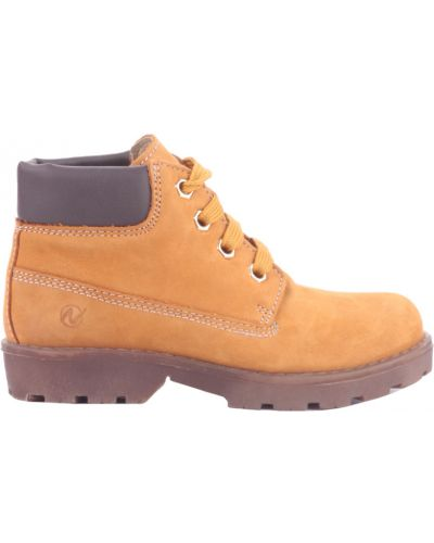 Оранжевые ботинки из нубука Naturino