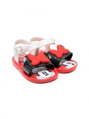 Открытые белые сандалии с пряжкой Mini Melissa