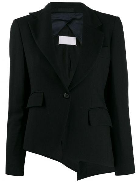 Шерстяной черный пиджак с карманами Maison Martin Margiela Pre-owned