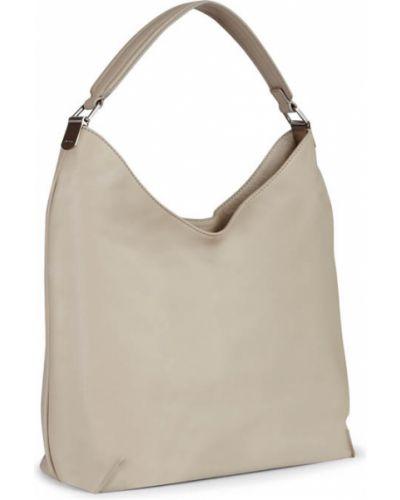 Кожаная сумка серая на плечо Ecco