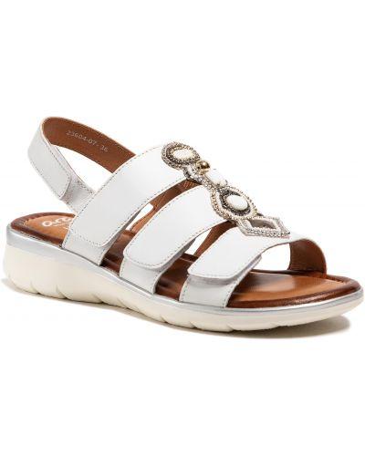 Sandały skórzane - białe Ara