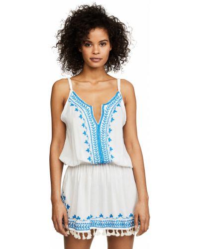 С ремешком белое платье мини на бретелях Tiare Hawaii