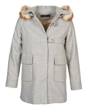 Szary płaszcz przeciwdeszczowy Kookai