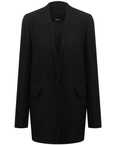 Шерстяной пиджак - черный Isabel Benenato