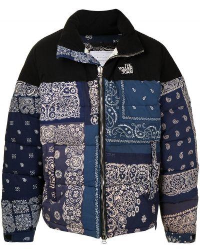 Niebieska długa kurtka bawełniana z długimi rękawami Readymade