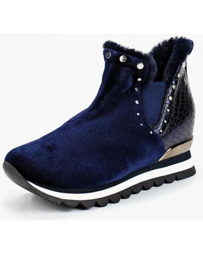 Высокие кроссовки с мехом велюровые Gioseppo