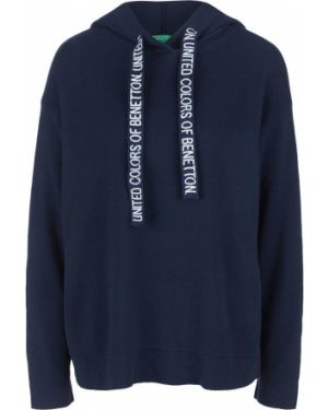 Джемпер синий с капюшоном United Colors Of Benetton