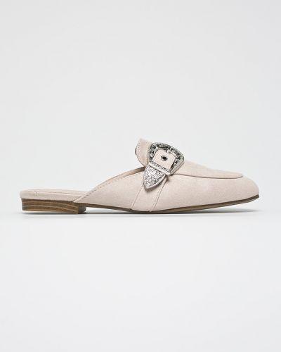 Бежевые сандалии текстильные Answear